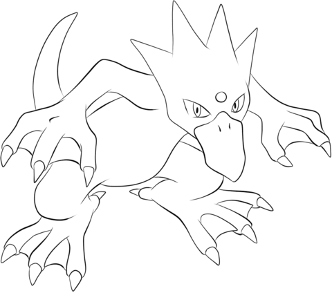 Click To See Printable Version Of Golduck Coloring Page