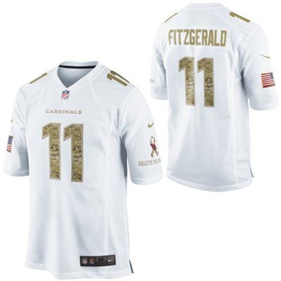cdb69d299b89 Nike Larry Fitzgerald Arizona Cardinals Salute to Service Game Jersey -  White