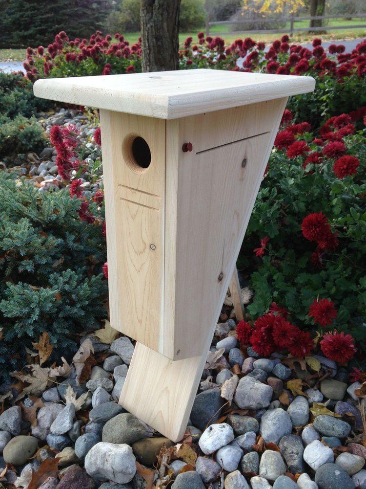 Details about Peterson Cedar Bluebird house nesting box