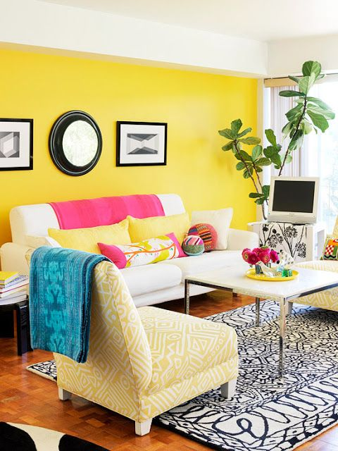 Yellow Living Room Ideas | Yellow Inspired Decor | Pinterest ...