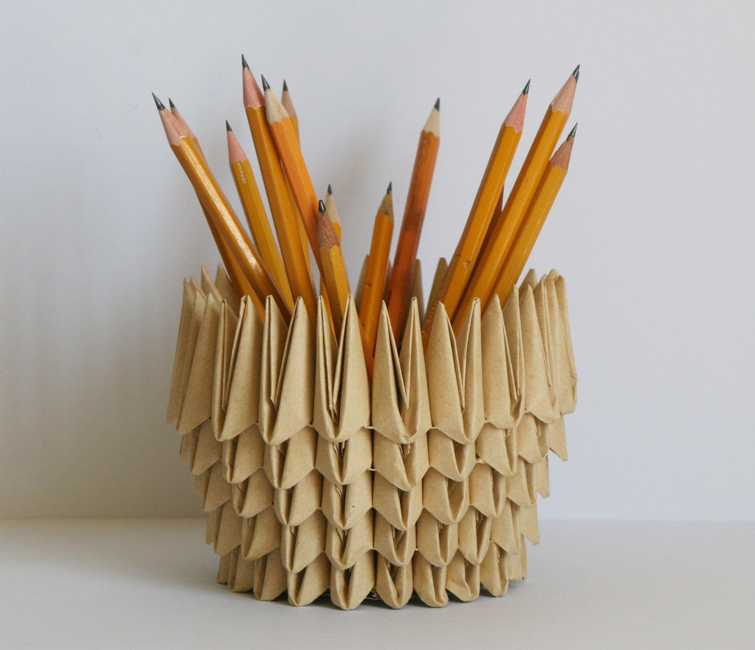 Origami / Pencil Holder / Home Décor / First Anniversary ... - photo#28