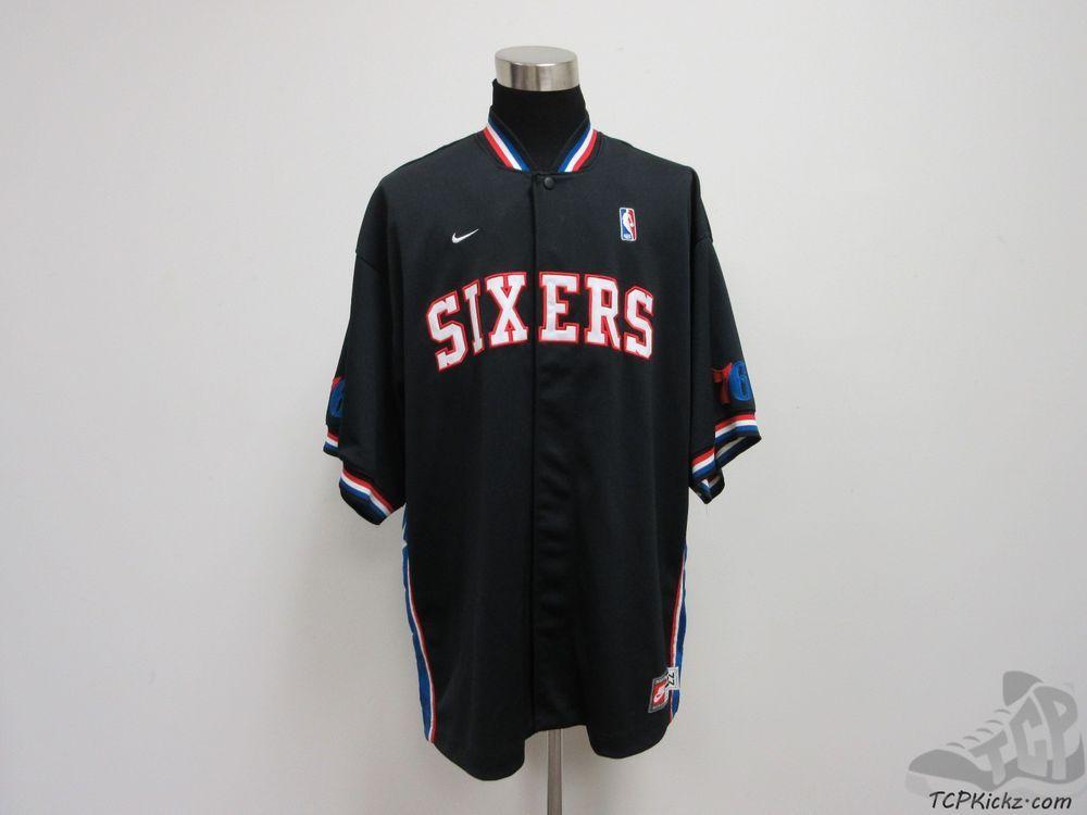 Nike Philadelphia 76ers Shoot Around Warm Up Shirt sz 2XL Throwback Iverson   Nike  Philadelphia76ers  tcpkickz 932f5849c
