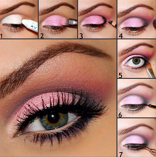 Pink Eyeshadow Makeup Hint Apply Primer Plus White Shadow First To Make Color Pop Smoky Eye Makeup Pink Eye Makeup Smoky Eye Makeup Tutorial