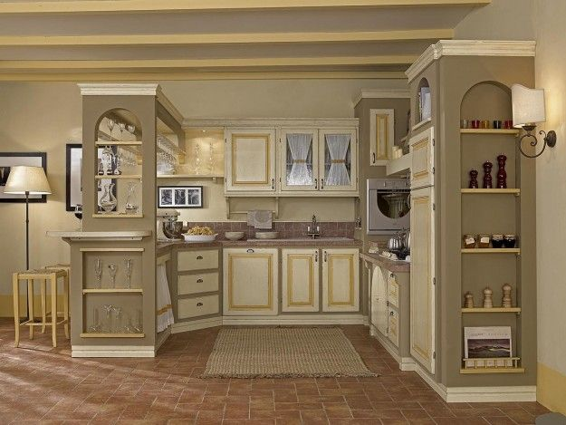 Telaio Per Ante Cucina Muratura.Cucine In Finta Muratura Cucina In Muratura Cucine E Cucine Di