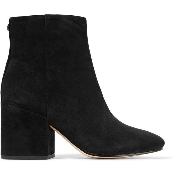 Sam Edelman Taye suede ankle boots (27,670 PHP) ❤ liked on Polyvore featuring shoes, boots, ankle booties, suede ankle boots, suede leather boots, suede bootie, suede ankle booties and ankle boots