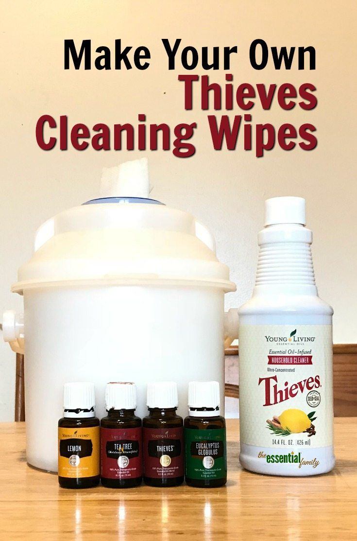 Make Your Own Thieves Cleaning Wipes! Homemade essential