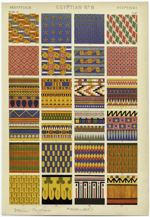Egyptian Pattern and Design from The Grammar of Ornament; NYPL