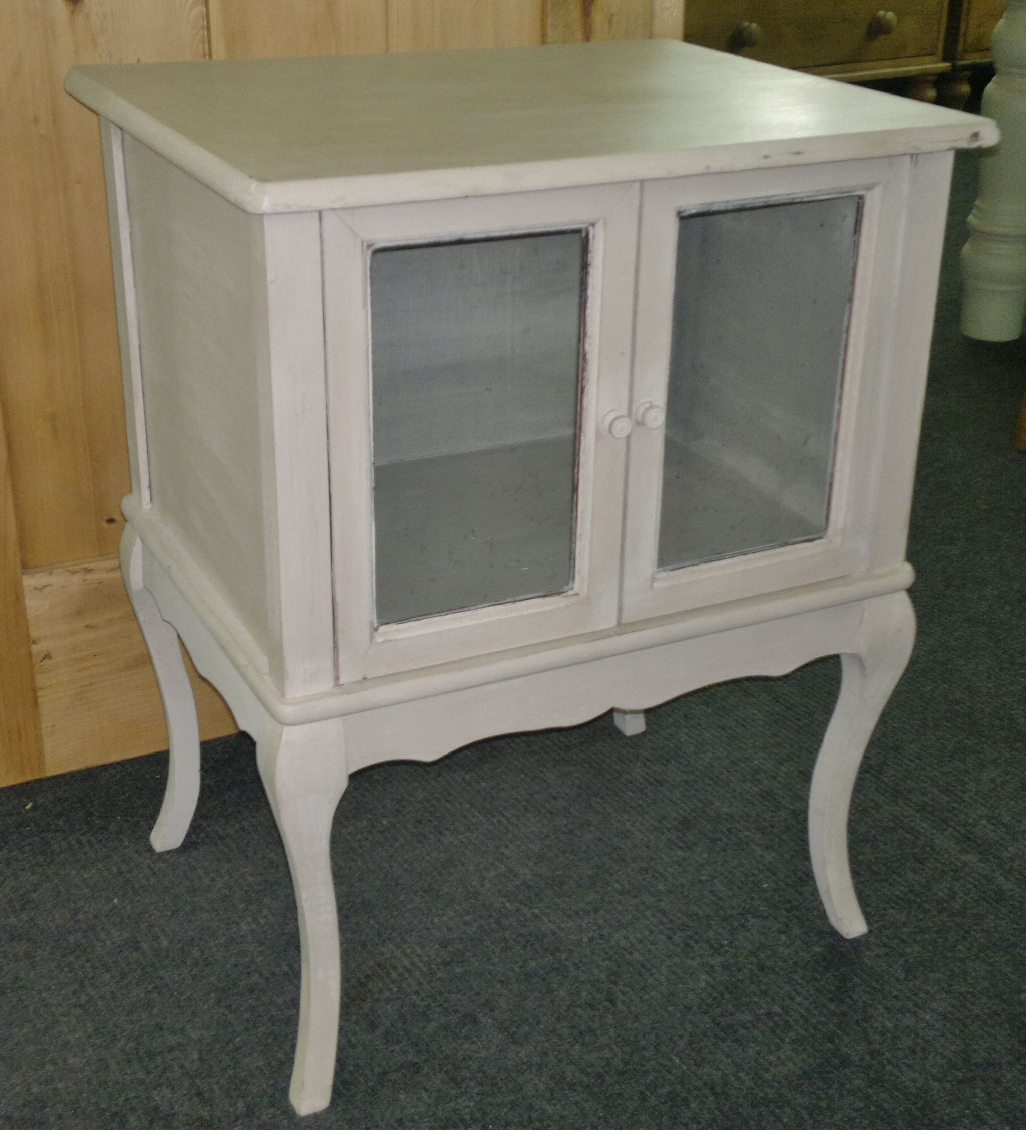 French style glazed bedside painted in 'old white