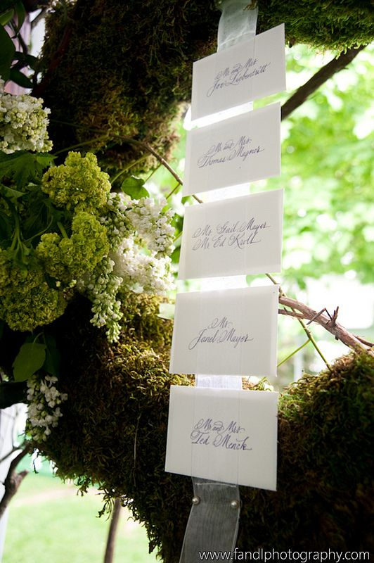 Enchanting escort cards #weddings #escortcards #blisschicago
