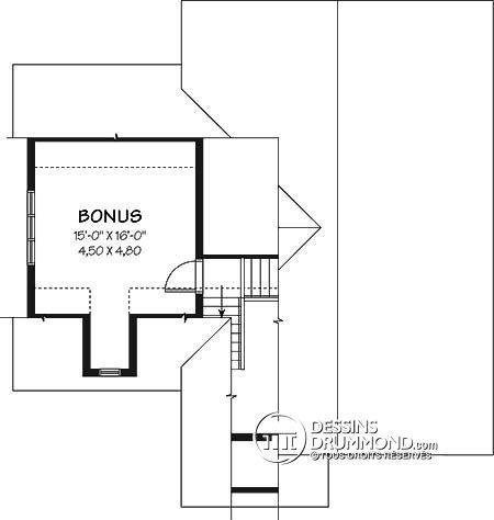 Détail du plan de Maison unifamiliale W3271 Idée maison - idee de plan de maison