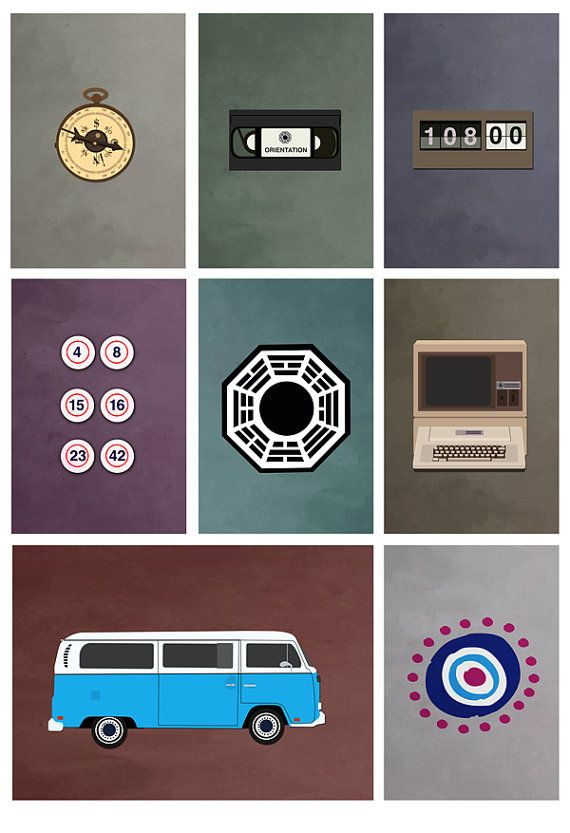lost tv show poster 8x10 11x17 or 13x19 Colors by missingtime, $13.00