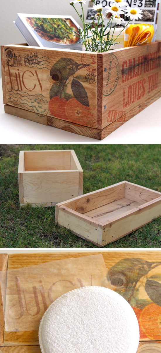 Pallet Wood Crates as Storage | DIY Home Decor Ideas on a Budget | Click for Tutorial | Easy Home Decorating Ideas