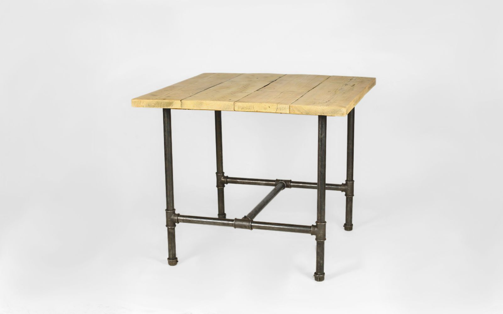 Square Dining Table (4 Seater)   STEEL ROOTS DESIGN
