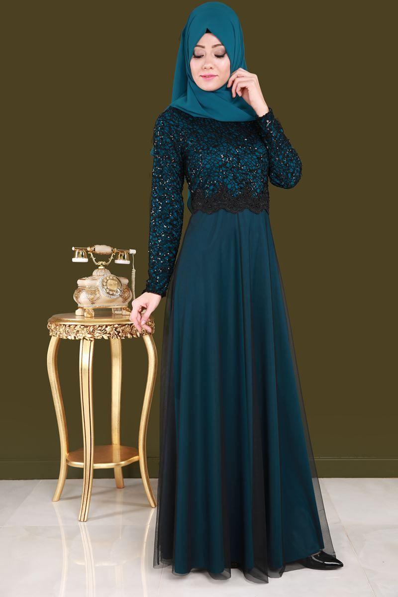 Yeni Urun Tul Etekli Tesettur Abiye Petrol Urun Kodu Fnd3829 109 90 Tl Elbiseler The Dress Moda Stilleri