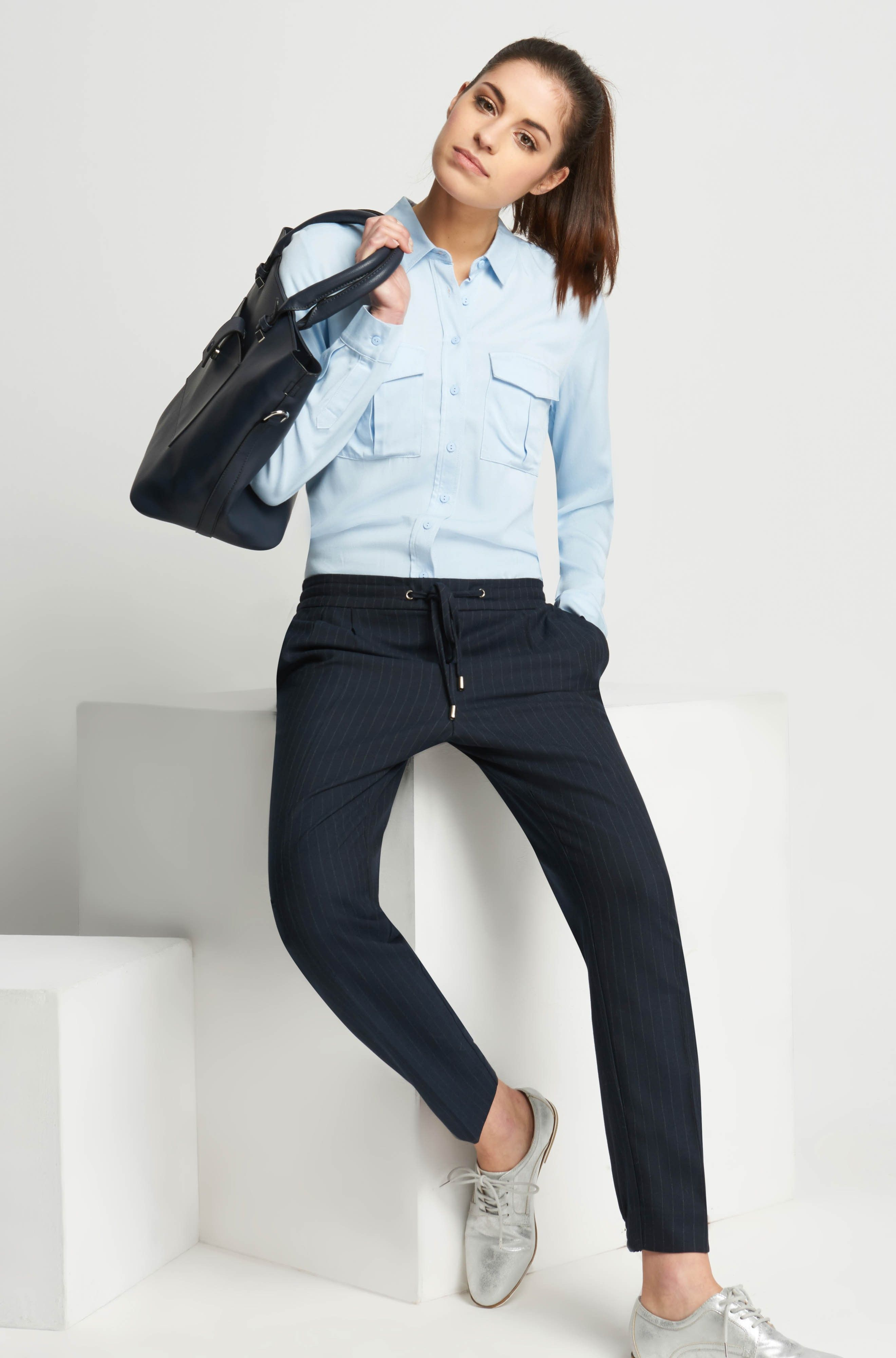Slip pants with stripes  ORSAY