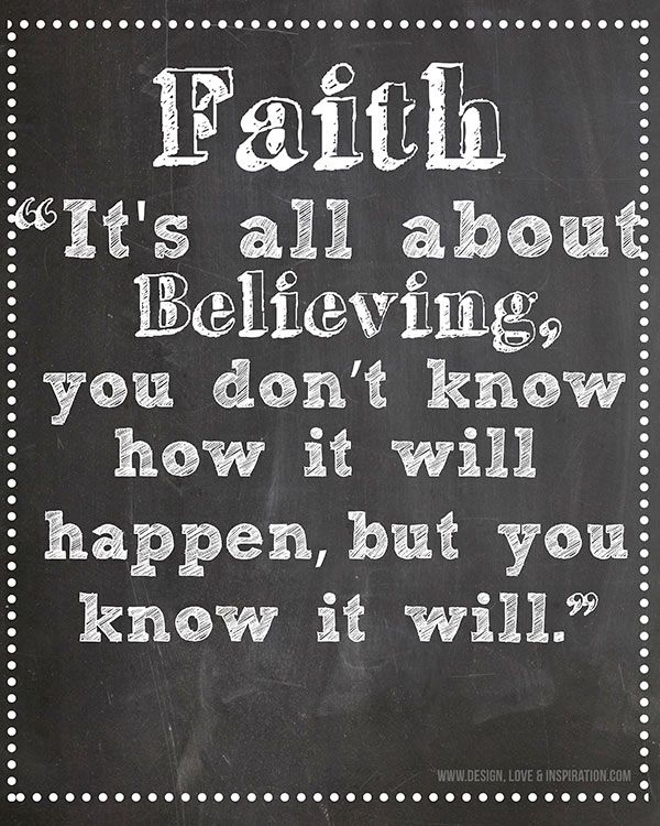 Instant Download-Faith & Belief Motivating Quote on ...