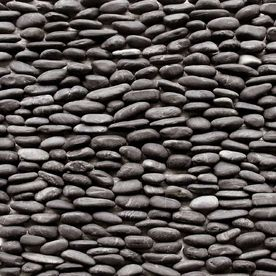 Decorative Outdoor Wall Tiles Extraordinary Solistone 15Pack 4In X 12In Standing Decorative Pebbles Dark Inspiration