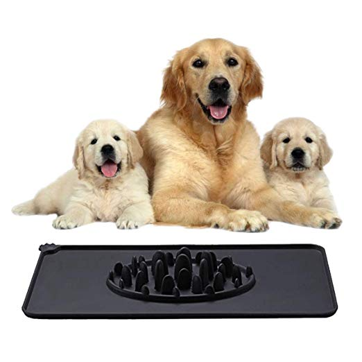Amazon Com Dog Bowls Washable Pet Food Mat Slow Feed Stop Bloaping Soft Silicone Waterproof Non Slip Durable Pet Cat Mat Black Pet Pet Food Mat Pets Cat Mat