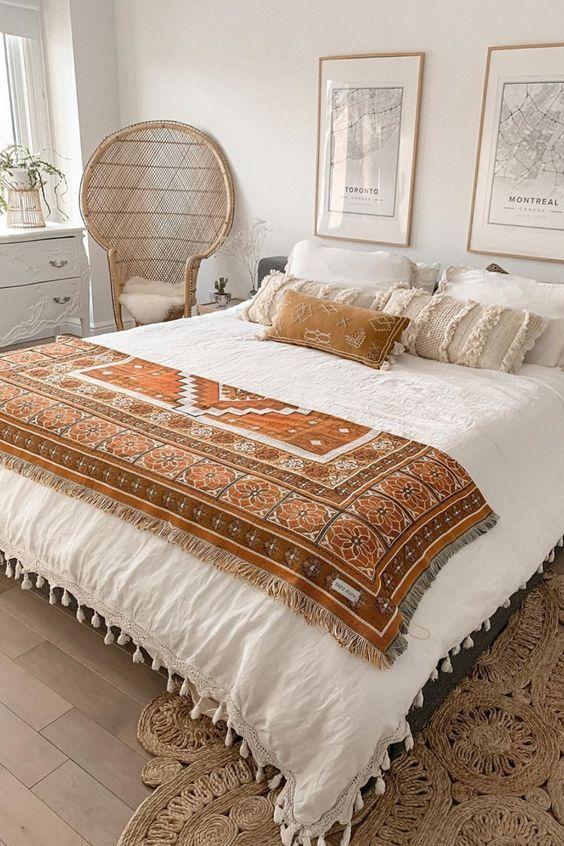 Keep the bedroom cozy and comfy with natural eucal
