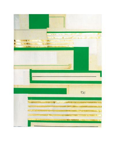 Numéro 156   Pied de page 8 Découpage de presse, aluminium doré - bombe de peinture aluminium