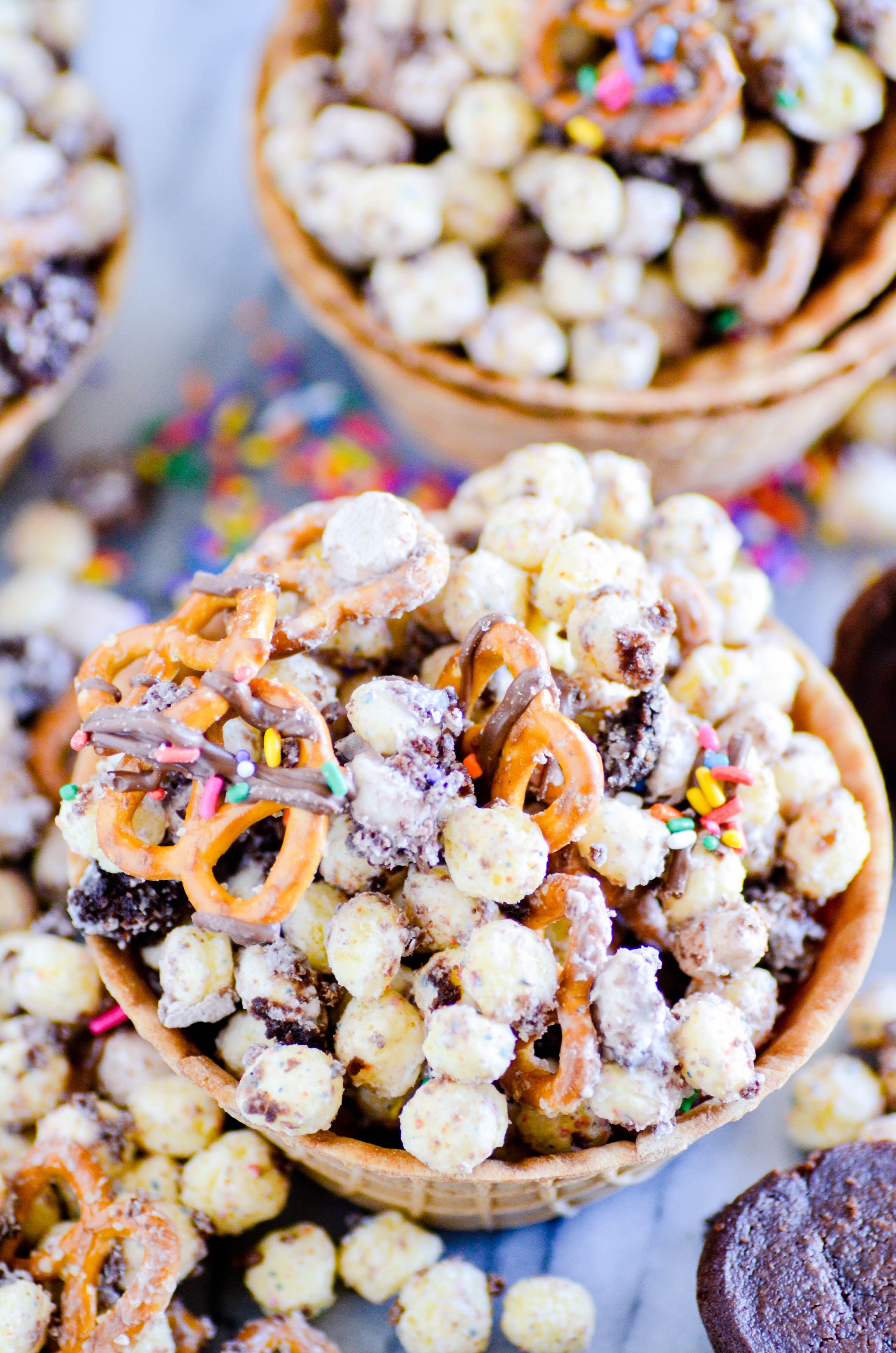 Birthday cake remix snack mix recipe dessert recipes