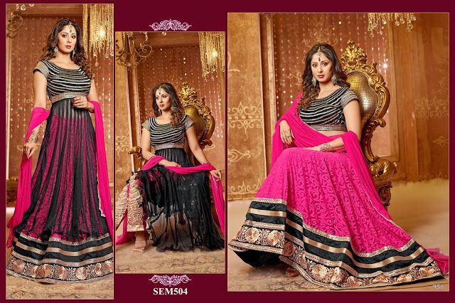 Catalog Name : SEM504 Design :7 MOQ : Full Catalog  Rate : 1,770 INR/Design Full Catalog Rate : 12,390 INR Weight: 10 Kg
