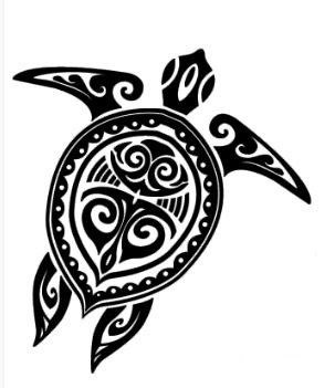 Tribal sea turtle design cool tattoos pinterest for Tortuga maori