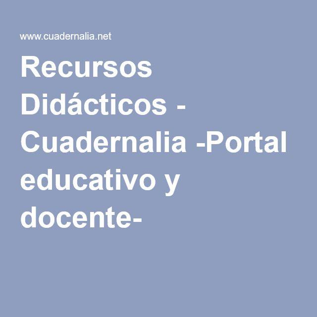 Recursos Didácticos - Cuadernalia -Portal educativo y docente-