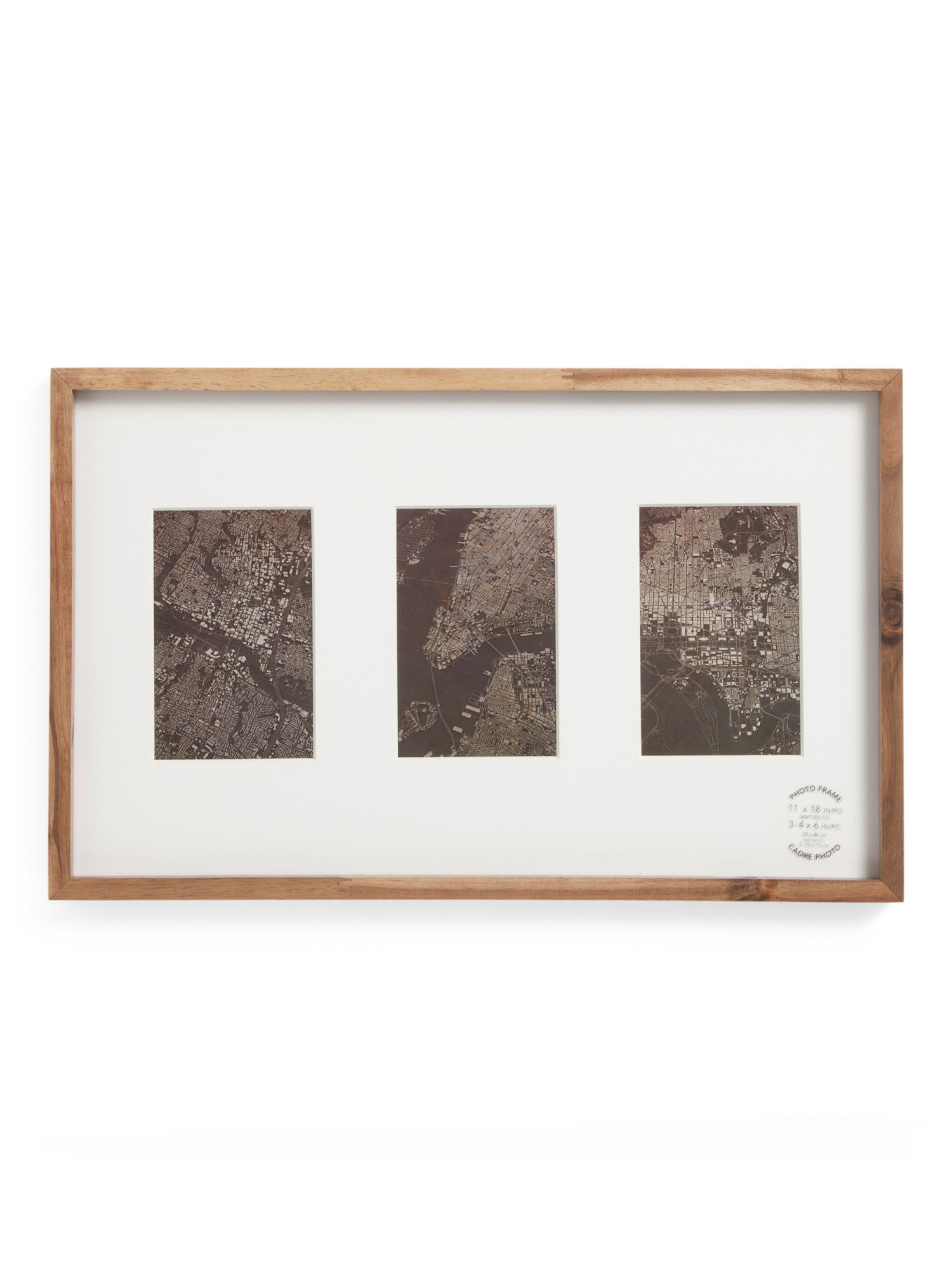 11x18 Acacia Wood 3 Opening Gallery Wall Frame | Products ...