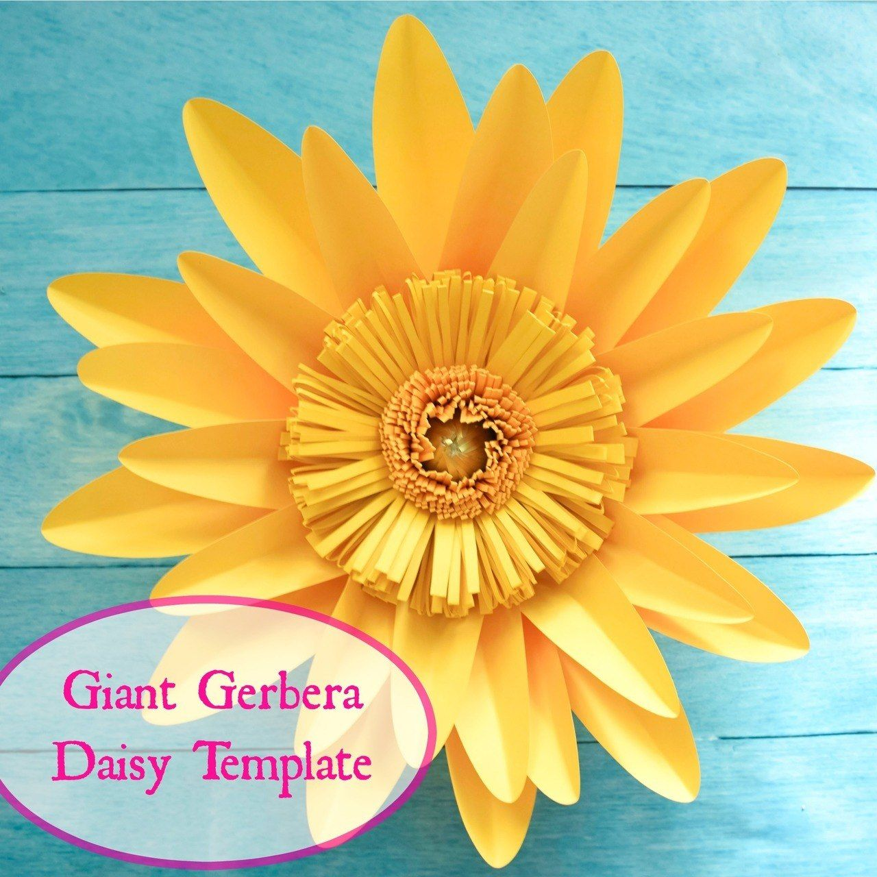 Giant Gerbera Daisy Paper Flower Template Paper Flower Template Paper Flowers Flower Template