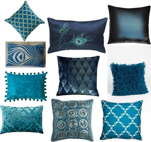 Cot In A Box Morocco Turquoise: Deep Turquoise Hookah Room Pillows