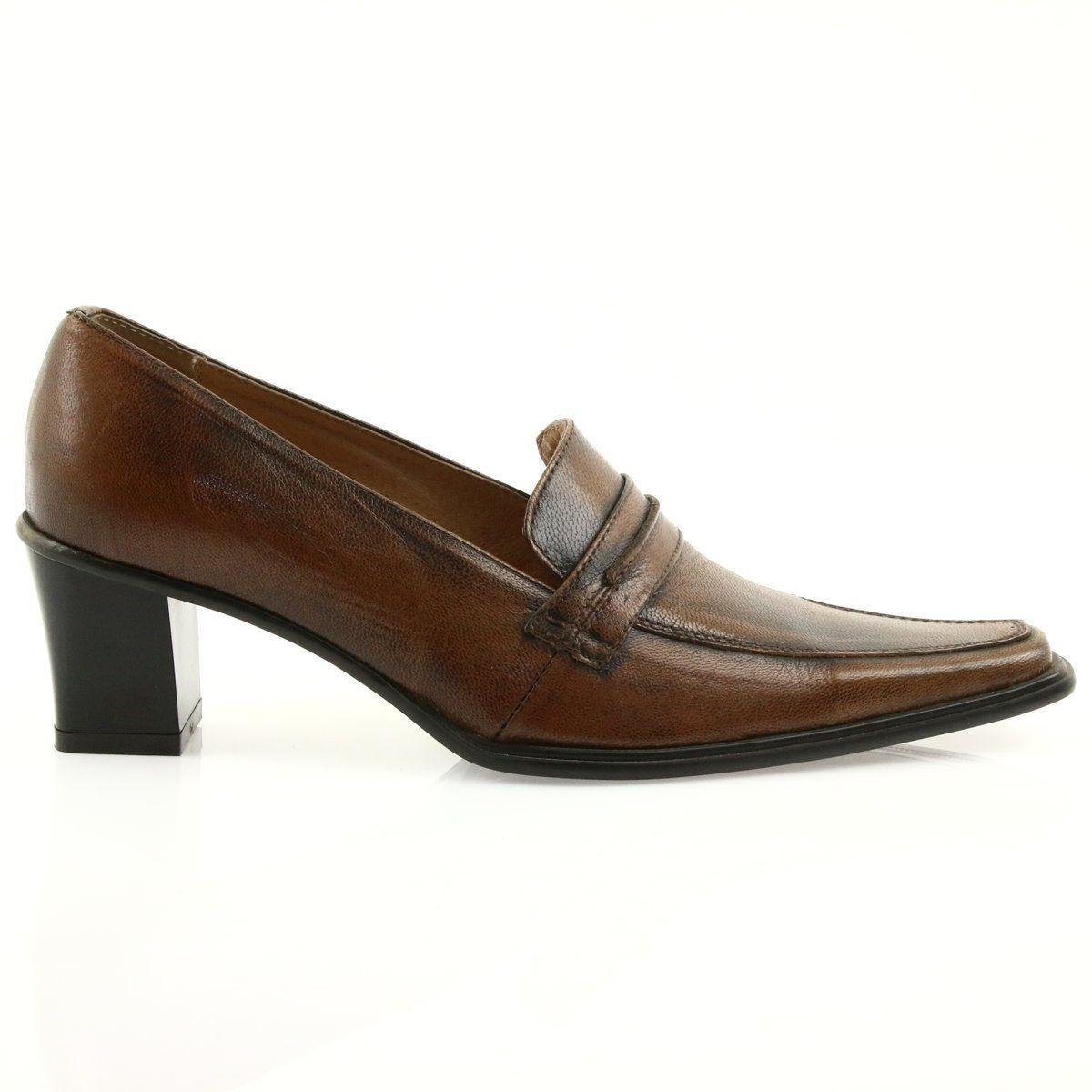 Polbuty Skorzane Eksbut 864 Brazowe Dress Shoes Men Loafers Men Oxford Shoes