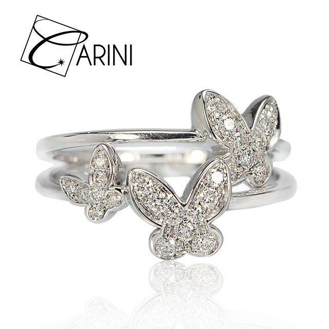 La grande bellezza in piccoli ed incredibili dettagli lavorati finemente a mano! Anello Farfalla singola, diamanti ct 0.12 VS-SI G € 501 Anello Farfalla doppia, diamanti ct 0.14 VS-SI G € 607 #carinigioielli #springsummer2017 #italianjewelry #etsylent #handmade #rings #gemstone #sparkle #jewelrydesign #inlove #wedding #luxury #fashion #girl #style #cute #instagood #love #gettingmarried #isaidyes #accessories #jewellery #trendy #musthave #diamonds #proposal #bride #accessories #freedom…