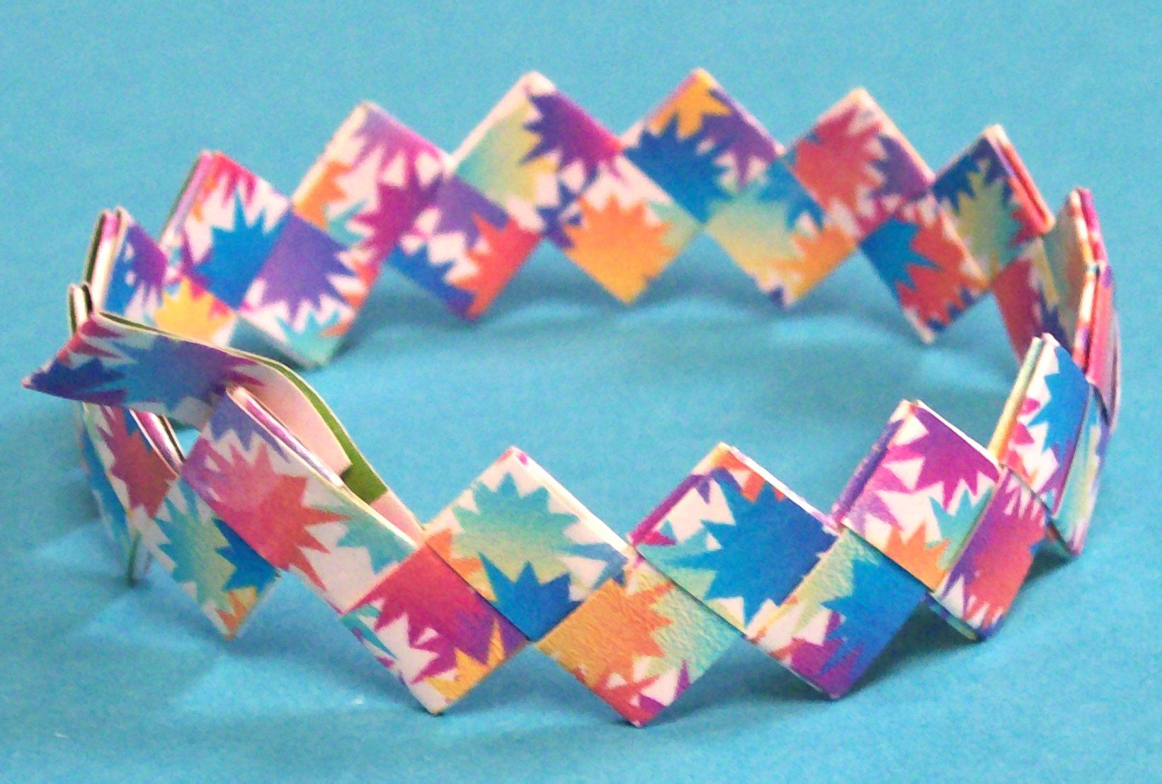 Build a bracelet here is an image of a bracelet made out of the