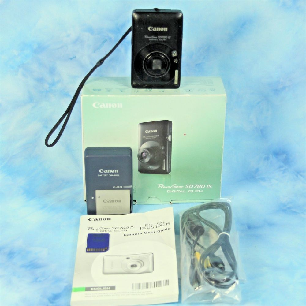 Canon Powershot Elph Sd780 Is 12 1 Mp Digital Camera Video Usb Memory Card Box Digital Camera Powershot Memory Cards