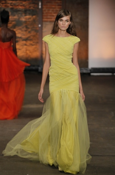 Bcbg Yellow Fashion Siriano Dress Beautiful Gowns Formal