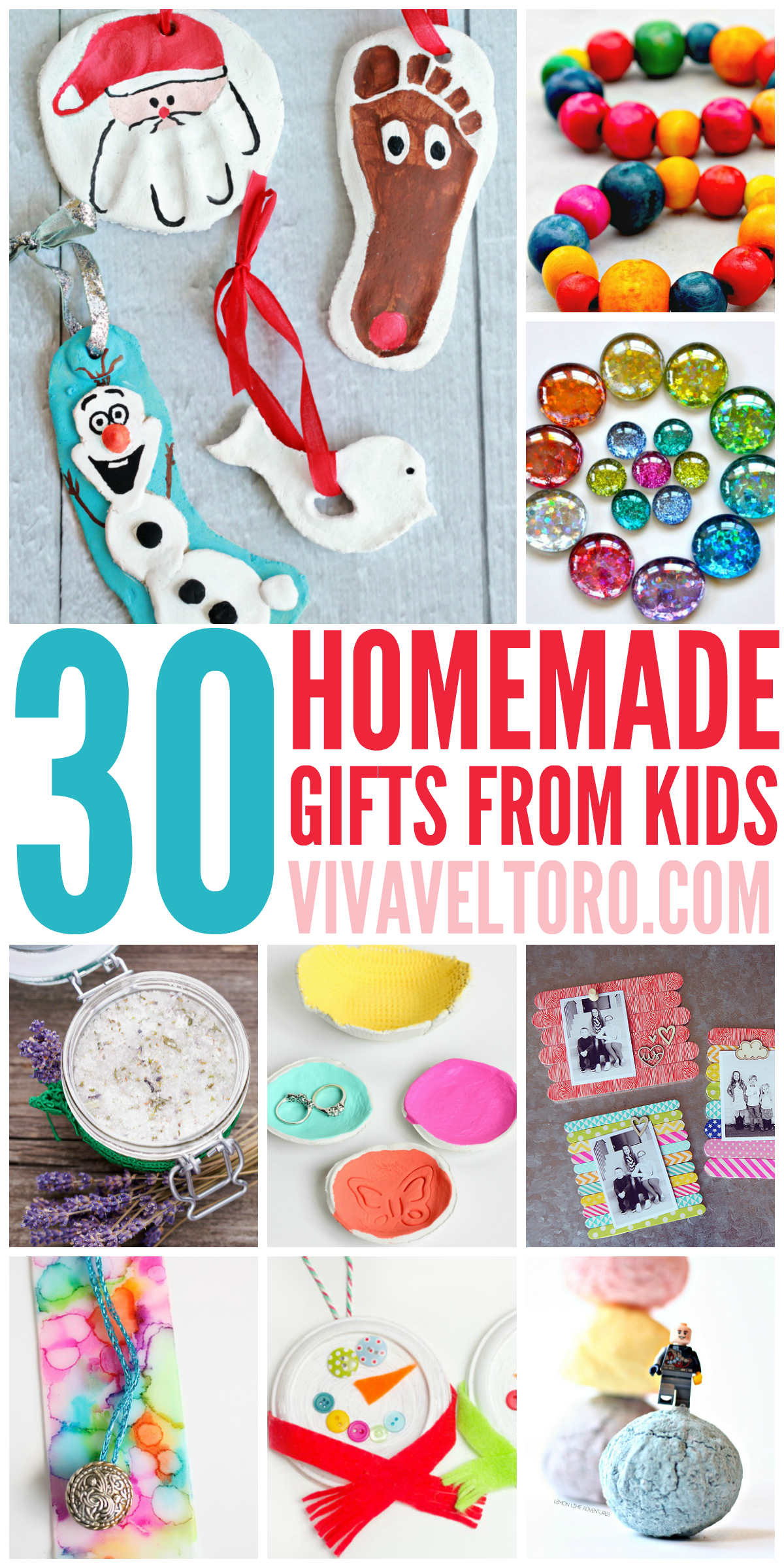 This list of full of crafts and DIY homemade gift ideas
