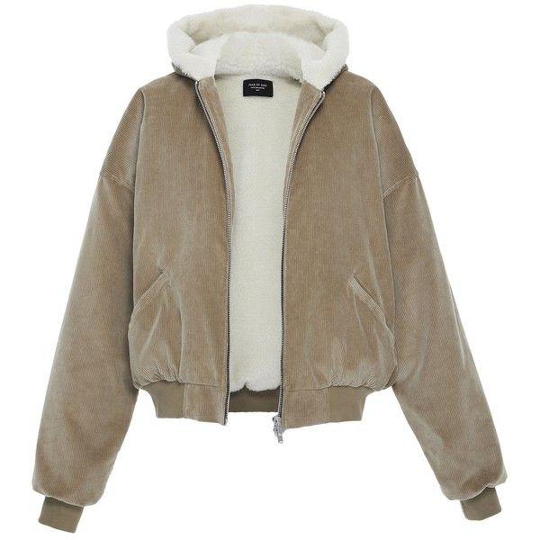 Corduroy Alpaca Hoodie (4.400 BRL) liked on Polyvore featuring tops, hoodies, jackets, outerwear ...