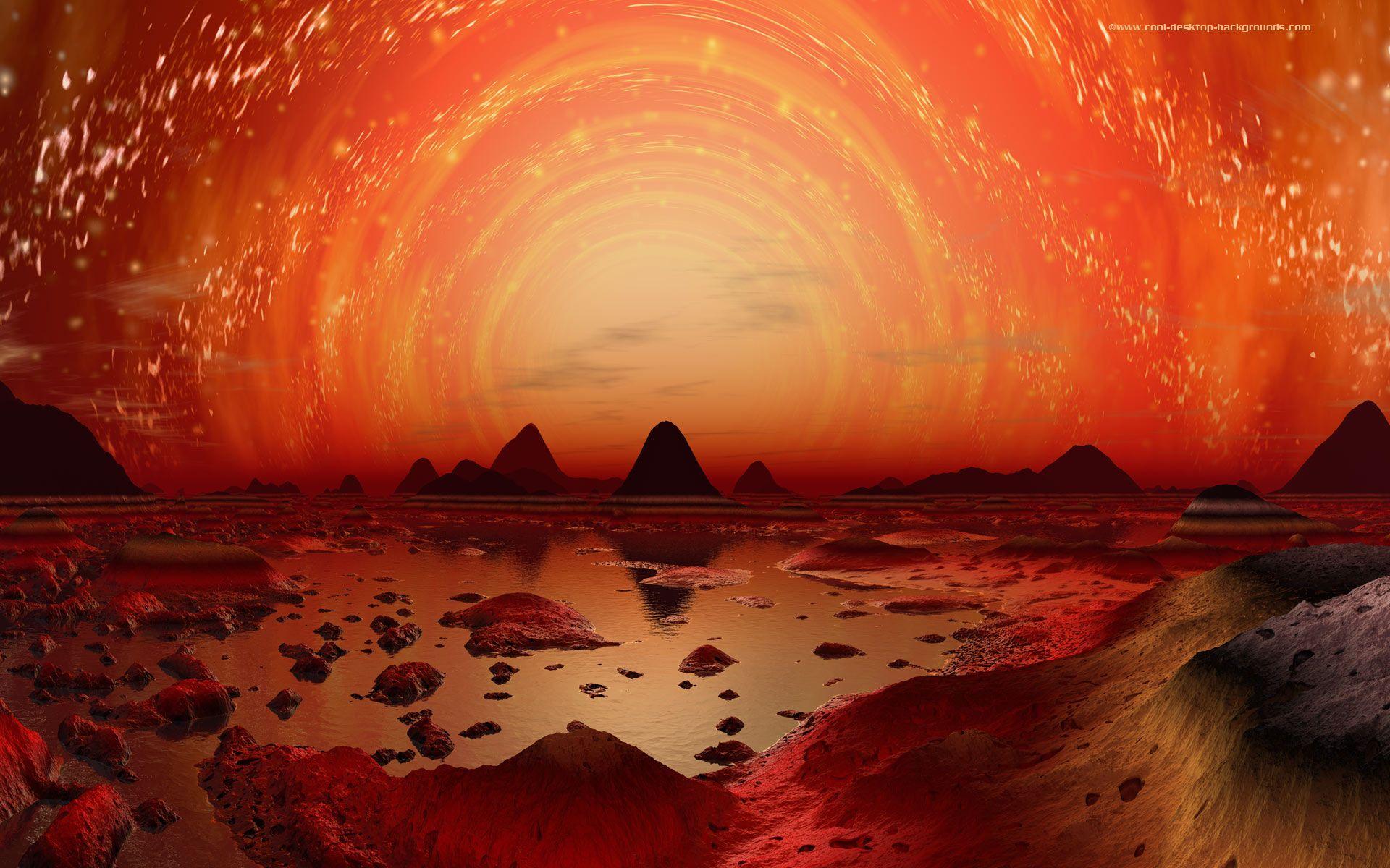 Planetary Landscape Fi Desktop Wallpaper Of An Alien