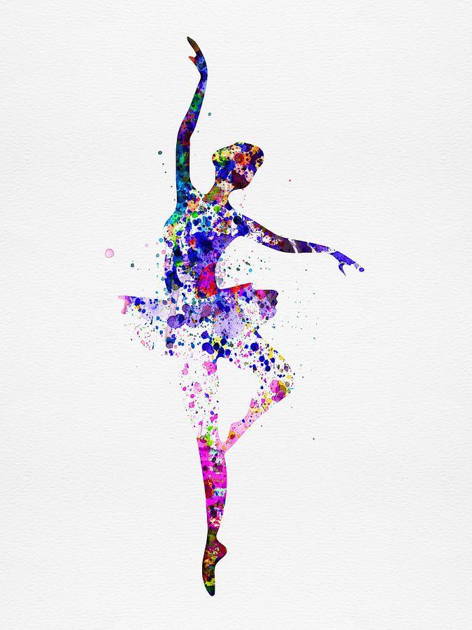 Ballerina Dancing Watercolor 2 By Naxart Studio Ballet Art Dance Art Dance Paintings