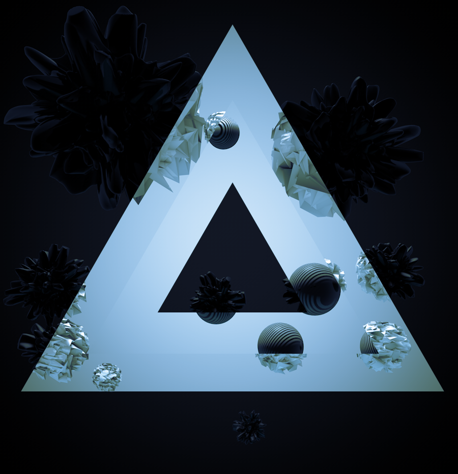 Different Phase 002 #C4D #AE #subpoly #displacement #everyday #triangle #pyramid
