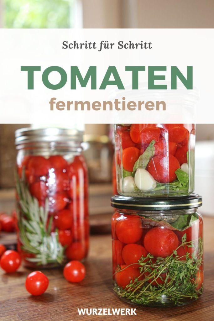 Tomaten Fermentieren Rezept Spritziger Sommer Snack Wurzelwerk In 2020 Tomaten Fermentieren Tomaten Tomaten Haltbar Machen
