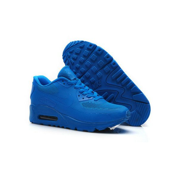 Nike Air Max 90 Hyperfuse Royal Blue ❤ liked on Polyvore