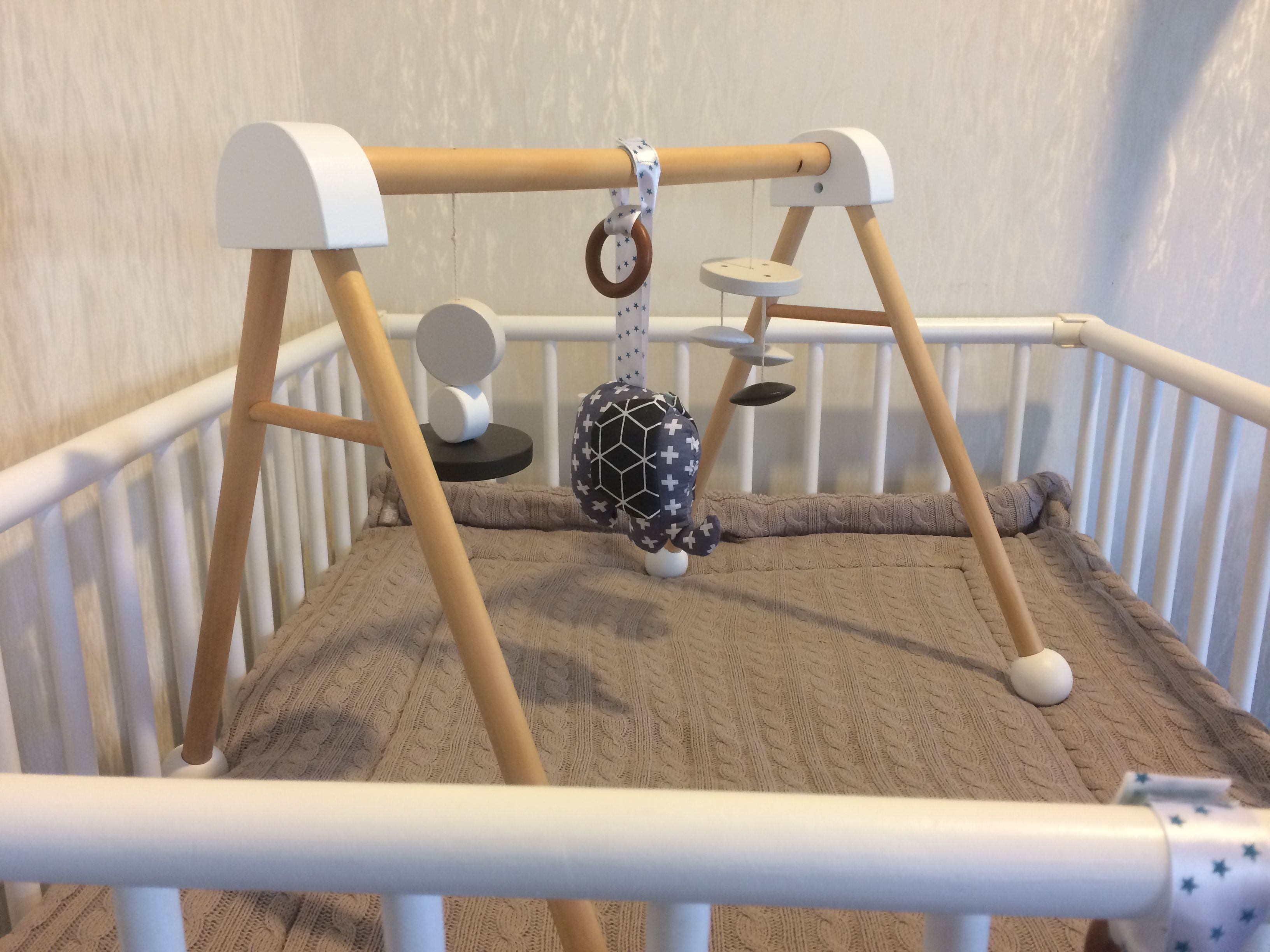 Kmart wooden play gym hack $17 play gym some paint and you re
