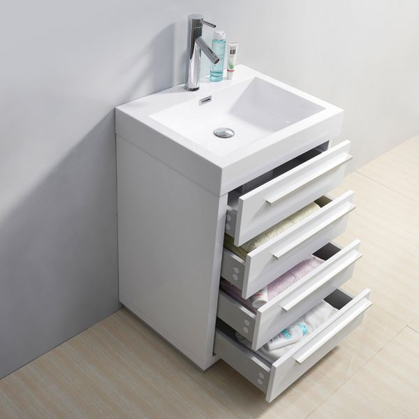 Image Of Elevate your bathroom decor with this modern Virtu USA Bailey bathroom vanity set The attractive