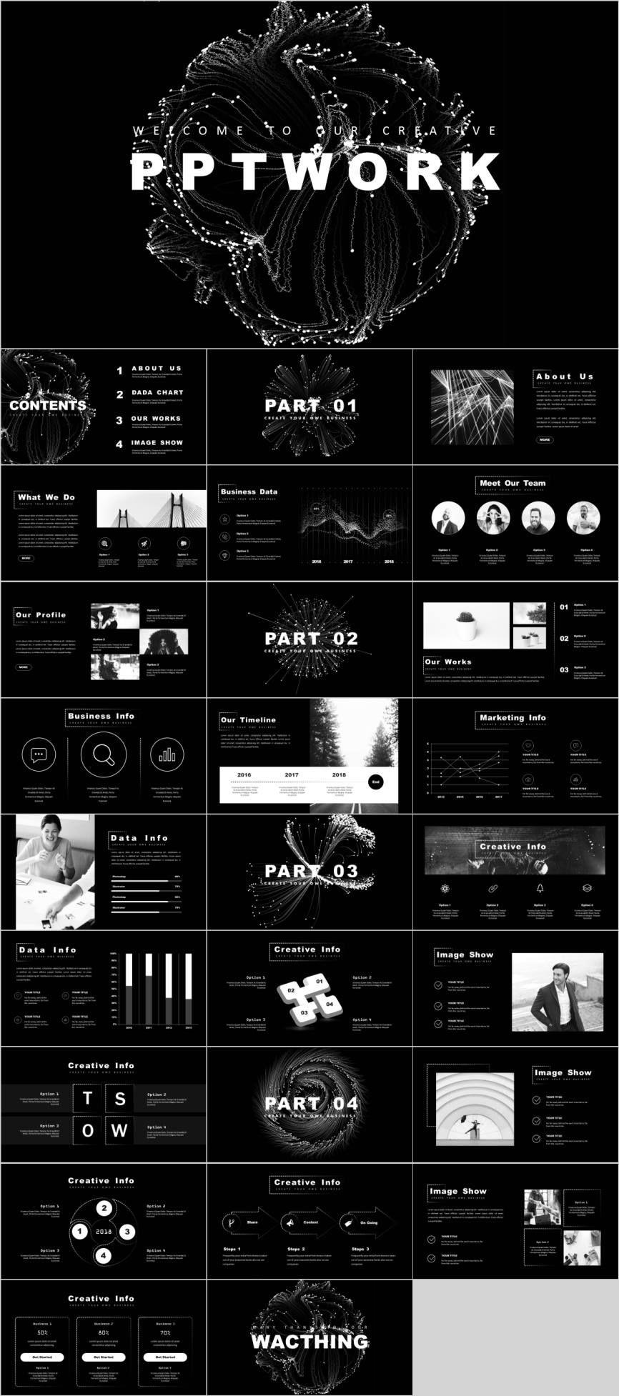 Dot Line technology template