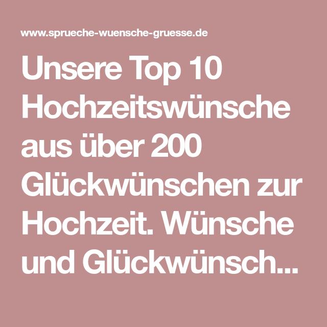 Unsere Top 10 Hochzeitswunsche Aus Uber 200 Gluckwunschen Zur