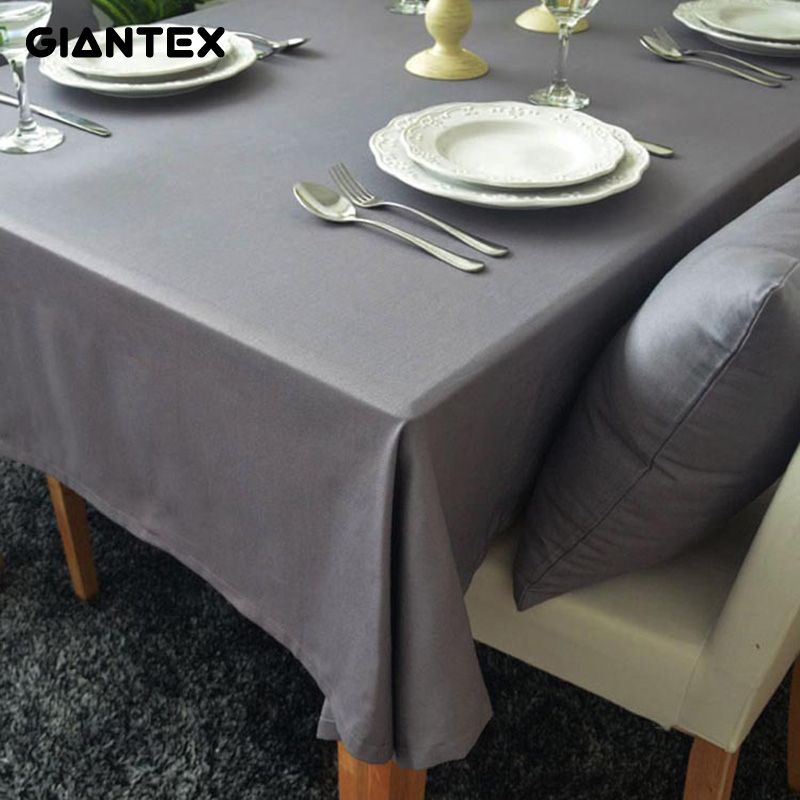 GIANTEX European Style Gray Decorative Table Cloth Cotton Tablecloth Dining Table  Cover For Kitchen Home Decor