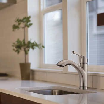 Seaton Kitchen Pull Out Faucet In Brushed Nickel By Waterridge