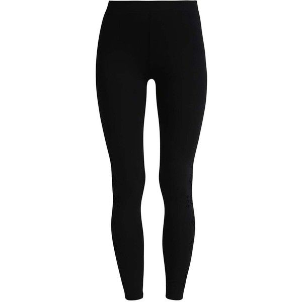MARIOTI Leggings black ❤ liked on Polyvore featuring pants, leggings, bottoms and legging pants